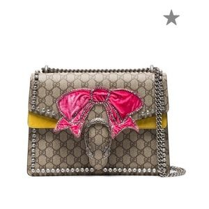 a48eaeb9eda Gucci · Gucci Dionysus GG Supreme Canvas with Crystal Bow
